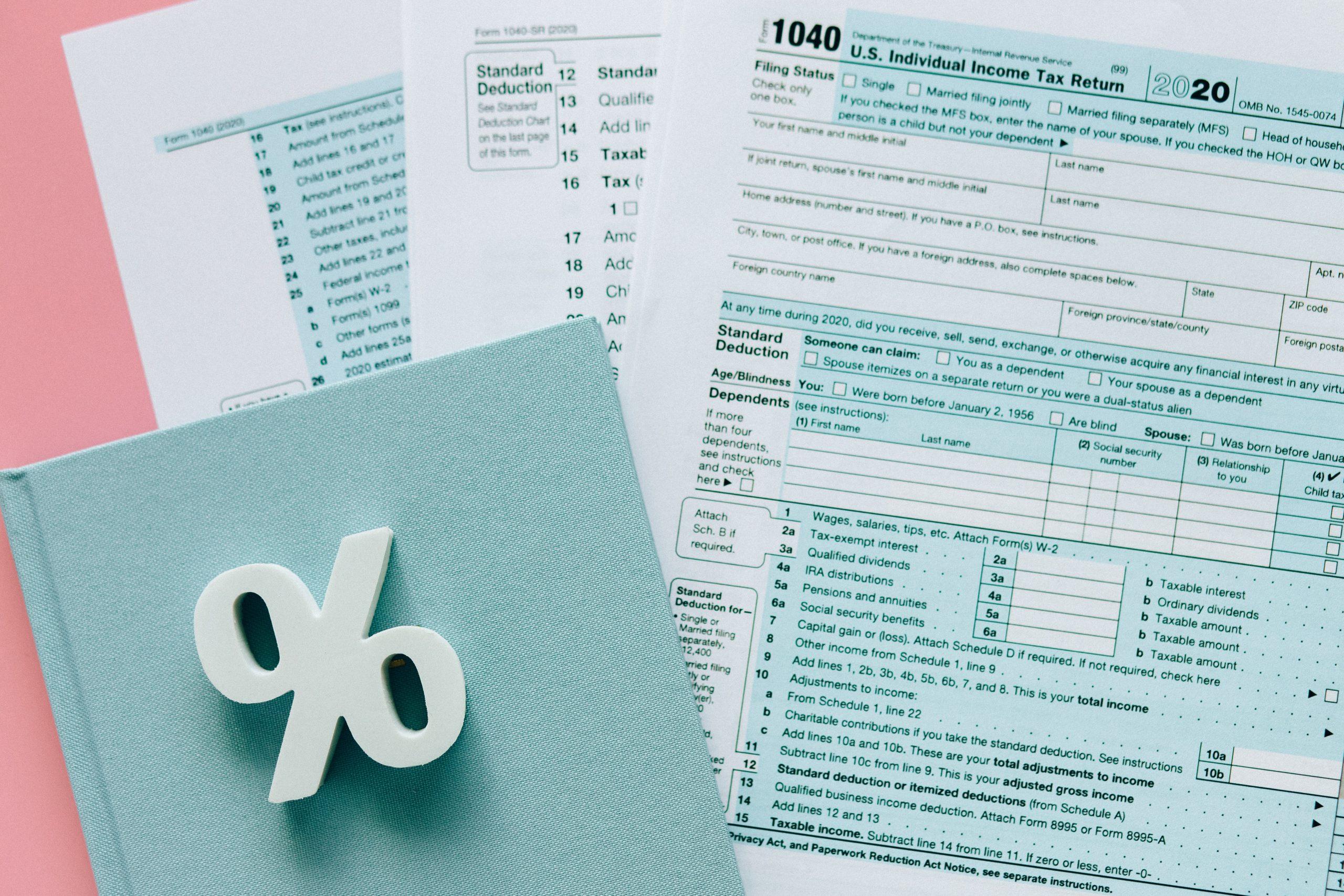 Tax Return Brisbane - documentation and percentage symbol